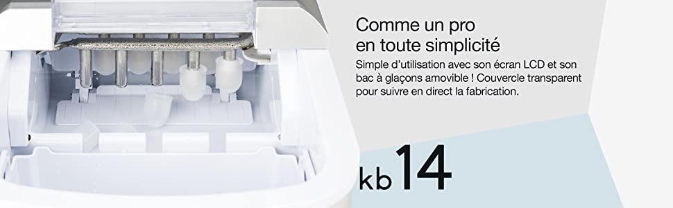 descriptif machine glaçon kb14