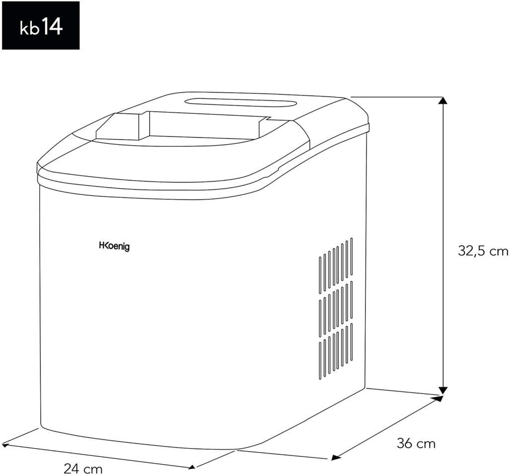 machine-a-glacon-KB14 dimensions
